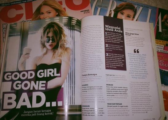 """artykuł """"Good girl gone bad"""" - o celebrytach, które zeszły na złą drogę(narkotyków, imprez itd.)"""